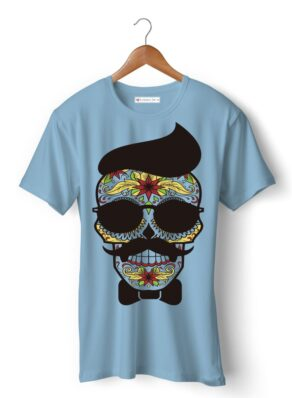 Face skull with mustache