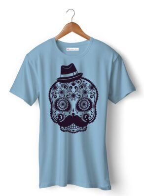 Skull with hat & mustache